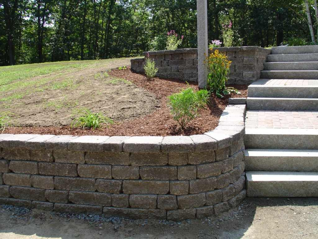 Stone Landscape Projects : Stone wall projects photos retaining contractors